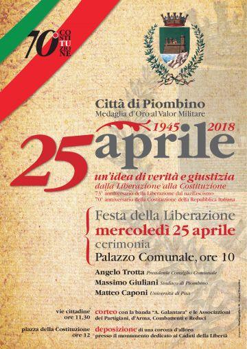 Dalla Liberazione alla Costituzione. Le celebrazioni del 25 aprile a Piombino